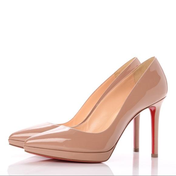Shoes - Christian Louboutin's nude stilettos 8.5